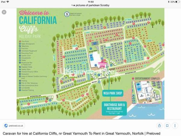 Norfolk California Map.Rent A Private Static Caravan On California Cliffs Holiday Park In